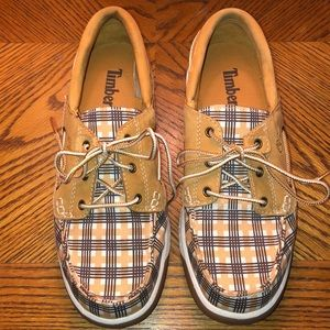 Timberland plaid boat shoes